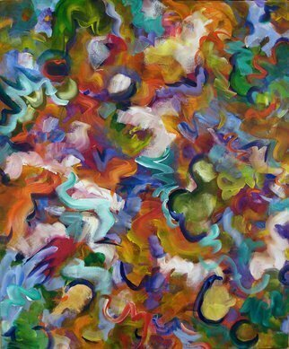 Lynda Lehmann; Blooming Joy, 2007, Original Painting Acrylic, 30 x 36 inches. Artwork description: 241  Abstract floral, acrylic on gallery- wrapped canvas, 30 x 36 inches.  I hope this painting conveys my joy at the abundance and wonder, the color and fragrance of spring. Image c Lynda Lehmann. SOLD....