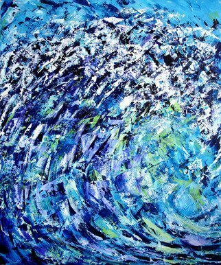 Lynda Lehmann, 'Wave', 2006, original Painting Acrylic, 20 x 24  x 1 cm. Artwork description: 2307 I was hoping to capture some of the power and energy of an ocean wave in this piece....