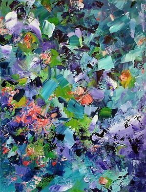 Lynda Lehmann, 'Where Have All the Forest...', 2006, original Painting Acrylic, 18 x 24  x 1 cm. Artwork description: 2307 Colorful abstract to eulogize our vanishing forests- - like a dream of luscious flora dappled in the joyous interplay of sun and shadow, but the dream vanishes in the light of day. Image c 2006 Lynda Lehmann. ...