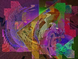 Lynda Lehmann; felicitude 23, 2017, Original Digital Art, 13 x 10 inches. Artwork description: 241 This is a contemporary geometric digital fantasy in high color with textural and shape variations.  ...