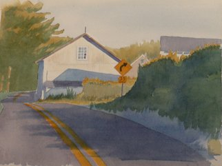 Lynn Millar; Along Anteitam Road, 2004, Original Watercolor, 15 x 11 inches. Artwork description: 241  This is a scene I pass by on my way to work. I have done two other seasons. Original, one- of- a kind. ...
