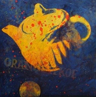Lynn Millar; Orange Pekoe, 2008, Original Painting Acrylic, 16 x 16 inches. Artwork description: 241  This painting won first place at th Amber Gallery juried show