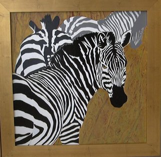 Lynn Millar; Wild Equine, 2006, Original Painting Acrylic, 19 x 19 inches. Artwork description: 241  A favorite Zebra painting. I love the way the stripes define the shape of the animal. Original one of a kind. ...