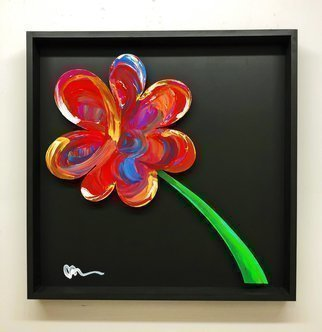 Mac Worthington; A Single Petal, 2021, Original Painting Acrylic, 32 x 32 inches. Artwork description: 241 Acrylic on metal floating in a shadowbox frame.Available. Signed   dated. Certificate of Authenticity.Delivery, hanging   shipping availableStudio: 5935 Houseman Rd, historic Ostrander, Ohio.For further information on this piece or to discuss a custom design please call 614 | 582 | 6788 or email: macwartist aol. com...