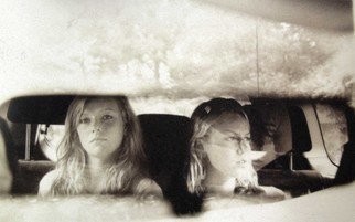 Mary Anne Mitchell; Being Sisters, 2008, Original Photography Silver Gelatin, 20 x 16 inches.