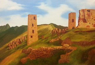 Madina Art; Watchtowers, 2015, Original Painting Oil, 70 x 50 cm.