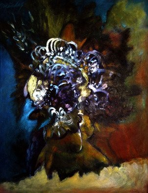 Magda Santiago, Flora y Fauna, 2004, Original Painting Oil,    inches