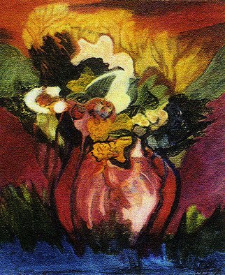 Magda Santiago, Flores del Campo, 1994, Original Painting Oil,    inches
