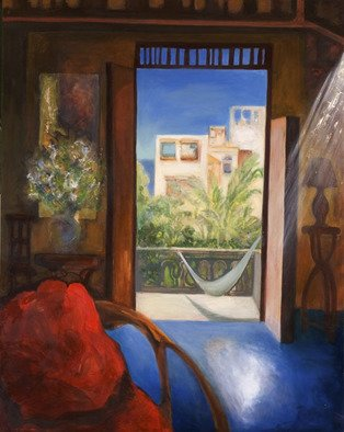 Magda Santiago, Siesta, 2004, Original Painting Oil,    inches