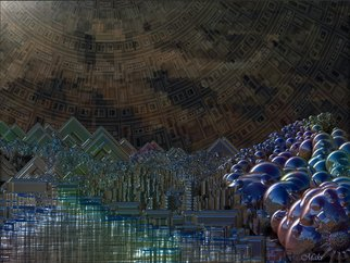 Scott Maki; Cosmic World, 2008, Original Other, 24 x 16 inches. Artwork description: 241  Landscape of the metalic world. ...