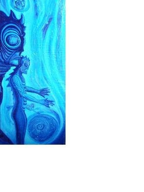 Scott Maki; Spirit Of The Water, The ..., 2013, Original Painting Acrylic, 15 x 36 inches. Artwork description: 241  In Deep of the oceans of this world , hidden in the blue waters exists a great mystery, ...