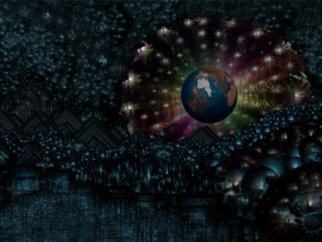 Scott Maki;  Earth Aura, 2015, Original Other, 18 x 24 inches. Artwork description: 241    distant world      Earth's Aura     ...