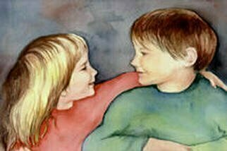 Mary Jean Mailloux; Best Of Friends, 2003, Original Watercolor, 16 x 12 inches. Artwork description: 241 There is nothing which compares with the unincumbered friendships of childhood. Though painted from a photo, these are children I know well. After many years, they are still good friends. ...