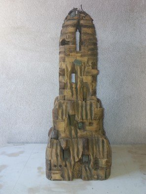 Svetozar Dzhonev; The Tample Of The Holy Fields, 2017, Original Sculpture Wood, 30 x 90 cm.