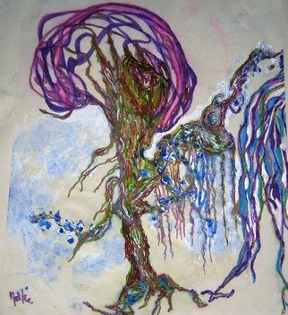 Malke; My Fabulous Trees, 2014, Original Mixed Media, 35 x 22 cm. Artwork description: 241          Tree of life mixed media including Ink and Acrylic          ...