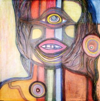 Malke, The Cyclop Woman, 2009, Original Mixed Media, size_width{The_Cyclop_Woman-1255308527.jpg} X 22 inches