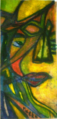 Malke, The face 2, 2009, Original Drawing Other, size_width{The_face_2-1252639390.jpg} X 10 inches