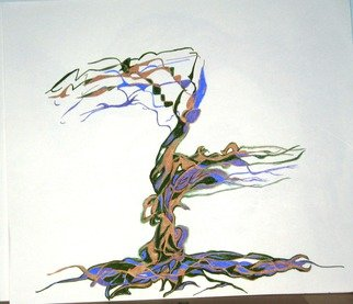 B Malke, 'Series My Fabulous Trees ...', 2014, original Mixed Media, 35 x 22  cm. Artwork description: 1911 Tree of life mixed media including Ink and Acrylic ...