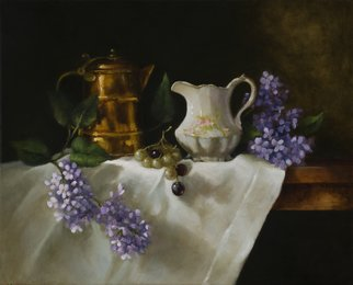 Barbara A Jones; Daily Grind, 2012, Original Painting Oil, 24 x 18 inches.