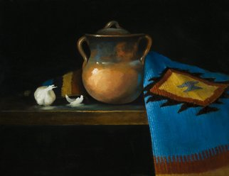 Barbara A Jones; The Clay Pot, 2012, Original Painting Oil, 18 x 14 inches.