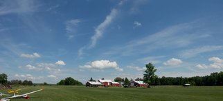 Charles Baldwin; Loucks Airport, 2019, Original Photography Digital, 23.4 x 10.7 inches. Artwork description: 241 The Louck s Airport in Wayne, New York at the Tri- County glider fly- in.  A really nice day. ...
