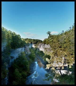 Charles Baldwin; Taughannock Falls Gorge, 2020, Original Photography Digital, 25.1 x 28.5 inches. Artwork description: 241 The view from the Black Diamond Bridge at Taughannock Falls Gorge...