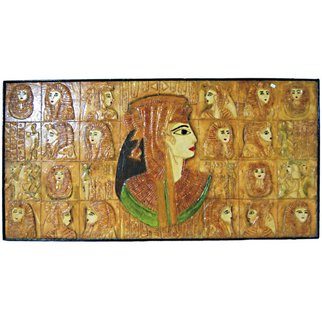 Manoj Lak; Egyptian Woman Art  Painting, 2011, Original Ceramics Handbuilt, 48 x 24 inches. Artwork description: 241  We are exporter and supplier of antique, modern and traditional paintings such as we show here Egyptian Woman Art  Painting which will be indicate Egyptian traditional culture. review more Egyptian Painting on our website. ...