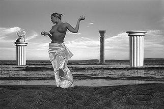 Manolis Tsantakis; Aphrodite, 1994, Original Photography Black and White, 40 x 26 cm.