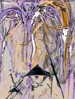 Elizabeth Mansco; Quijote, 2005, Original Computer Art, 29 x 42 cm. Artwork description: 241 Digital Art...