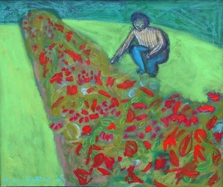 Marc Awodey; Gardener, 2005, Original Painting Other, 26 x 22 inches.