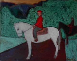 Marc Awodey; Horseback Riding, 2005, Original Painting Other, 34 x 28 inches.
