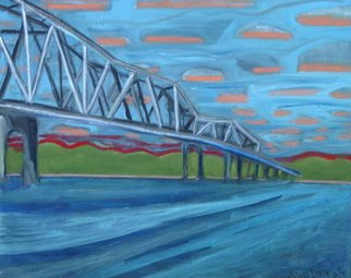 Marc Awodey; Missouri Bridge, 2005, Original Painting Other, 28 x 24 inches.