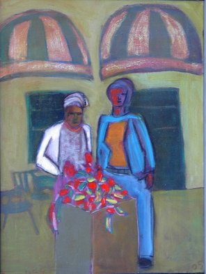 Marc Awodey; Mother Daughter, 2005, Original Painting Other, 18 x 24 inches.