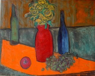 Marc Awodey; Orange And Green Still Life, 2006, Original Painting Other, 26 x 20 inches.