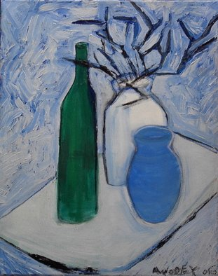 Marc Awodey; White Still Life, 2005, Original Painting Other, 16 x 20 inches.