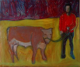 Marc Awodey; Young Bulls, 2005, Original Painting Other, 24 x 18 inches.