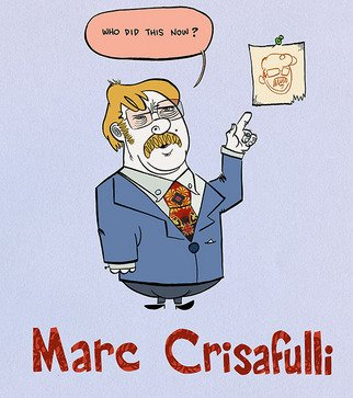 Marc Crisafulli; Promo Piece, 2011, Original Mixed Media,   inches.