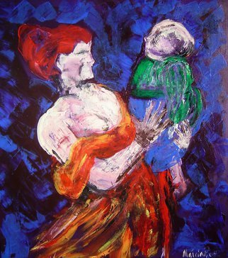 Marcia Pinho; Mother, 2008, Original Painting Acrylic, 90 x 100 cm. Artwork description: 241   Tao Sigulda Collection Expressionism, figurative, painting, acrylic and ink, canvas                                                   ...
