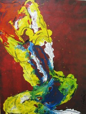 Marcia Pinho; Woman, 2006, Original Painting Acrylic, 60 x 80 cm. Artwork description: 241     Private Collector in USA Expressionism, figurative, painting, acrylic and ink, canvas                                                       ...