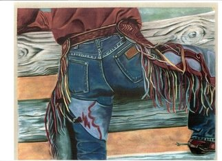 Marcia Collins; Cowboy, 2007, Original Pastel, 14 x 11 inches. Artwork description: 241  Soft Pastel on Sueded Pastel PaperPrints Available. Contact Artist. ...