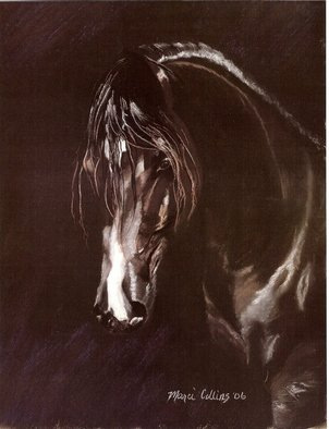 Marcia Collins; Sary Albadeia, 2006, Original Pastel, 12 x 15 inches. Artwork description: 241  Soft Pastel on Le Carte Pastel BoardSary Albadeia of Albadeia Arabian Horses, Cairo, Egypt Prints Available- Contact Artist...