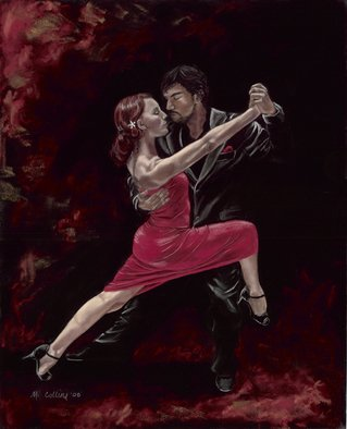 Marcia Collins; Tango 1, 2008, Original Pastel, 16 x 20 inches. Artwork description: 241  16 x 20 Soft Pastel I did for my husband as we did the Tango at our wedding. Prints available ...
