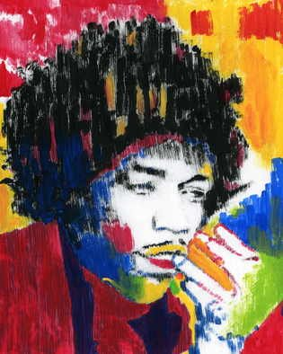 Marco Mark; JIMI HENDRIX COLLAGE 0968, 2005, Original Printmaking Giclee, 16 x 20 inches. Artwork description: 241 JIMI HENDRIX GICLEE ON GALLERY WRAPPED CANVAS, READY TO HANG. ...