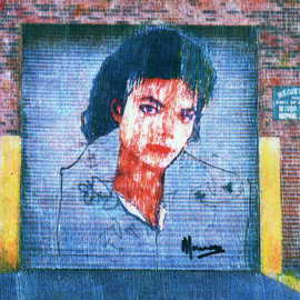 Artist: Marco Mark, title: MICHAEL JACKSON COLLAGE GRA..., 2006, Original Printmaking Giclee