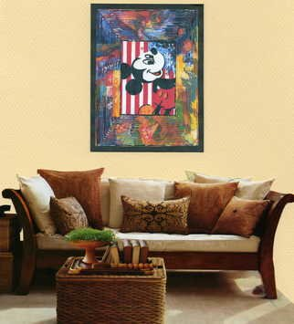 Marco Mark; MICKEY MOUSE ROOM COLLAGE 0790, 2005, Original Printmaking Giclee, 16 x 20 inches. Artwork description: 241 MICKEY MOUSE ROOM COLLAGE GICLEE ON GALLERY WRAPPED CANVAS, READY TO HANG ...