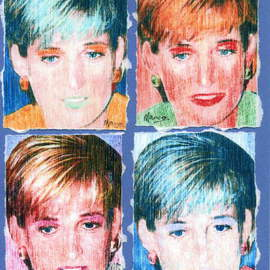 Artist: Marco Mark, title: PRINCESS DIANA COLLAGE PAIN..., 2007, Original Printmaking Giclee