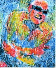Artist: Marco Mark's, title: RAY CHARLES, 2007, Printmaking Giclee
