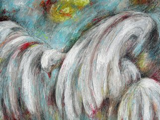 Martha Valentin; Falling Down, 2007, Original Pastel, 24 x 18 inches. Artwork description: 241  My wings are too heavy.  I' m falling down. ...