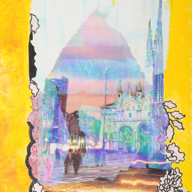 Margaret Thompson, , , Original Collage, size_width{Echoes_from_Venice-1238062238.jpg} X 50 cm