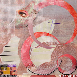 Margaret Thompson, , , Original Collage, size_width{Looking-1237385660.jpg} X 20 inches